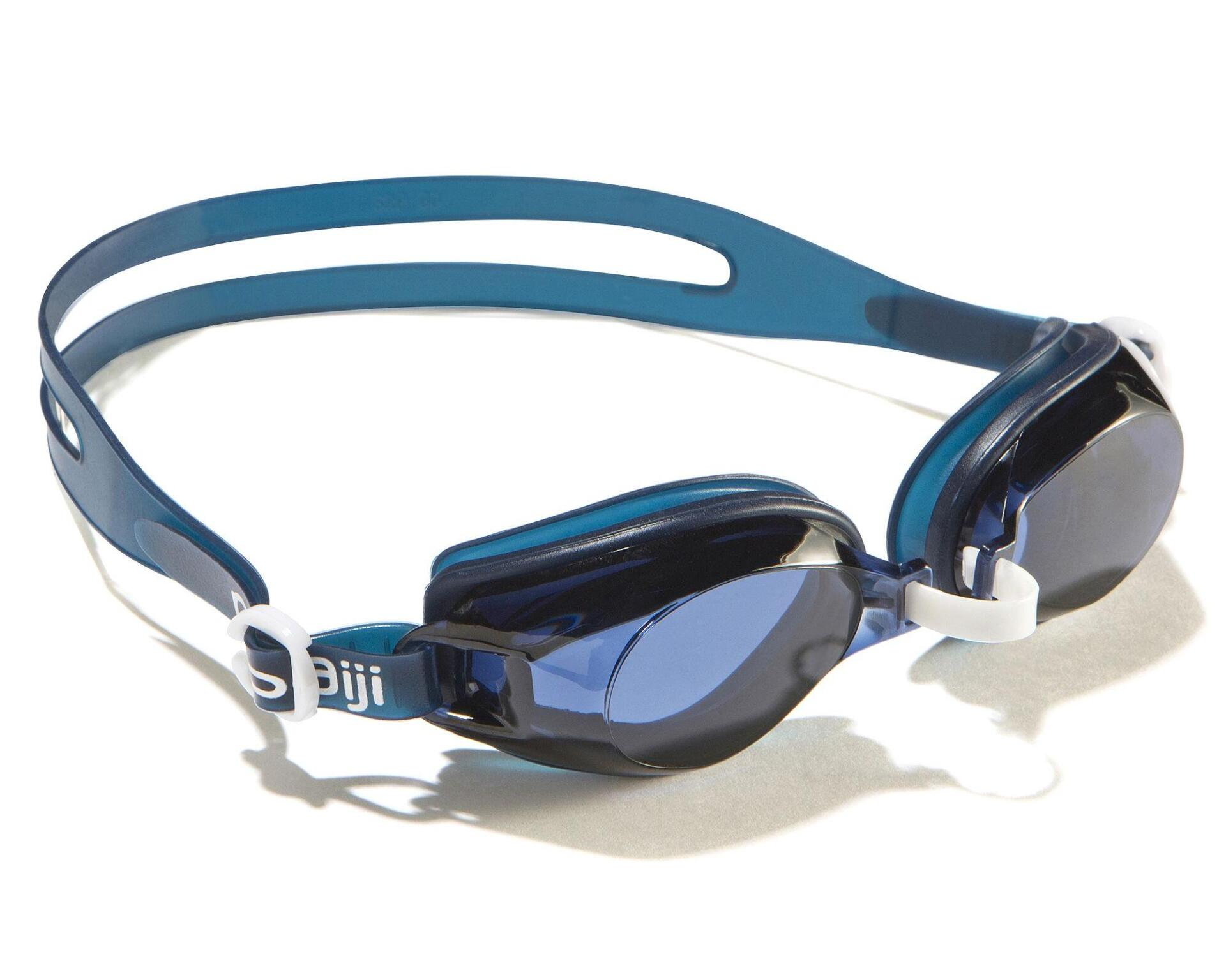 AMA 700 STANDARD SWIMMING GOGGLES SIZE L - BLUE WHITE