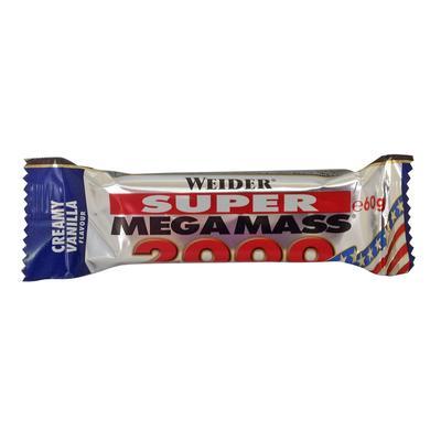 Barre protéinée SUPER MEGA MASS 2000 vanille 60g