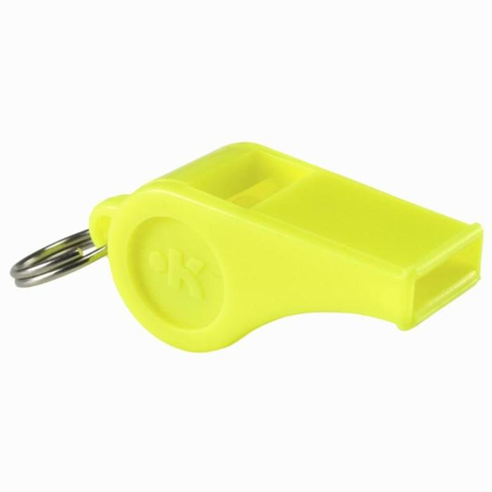 Scheidsrechters fluitje plastic geel