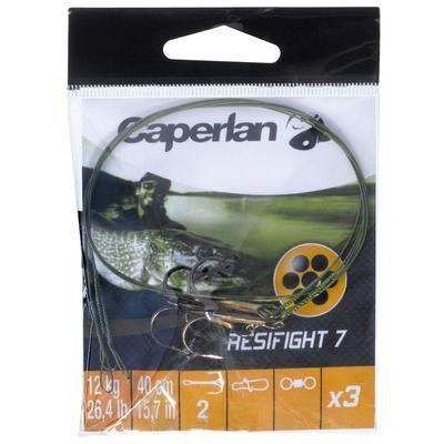 Потрійний гачок з повідцем Resifight 7 для ловлі хижої риби, 12 кг