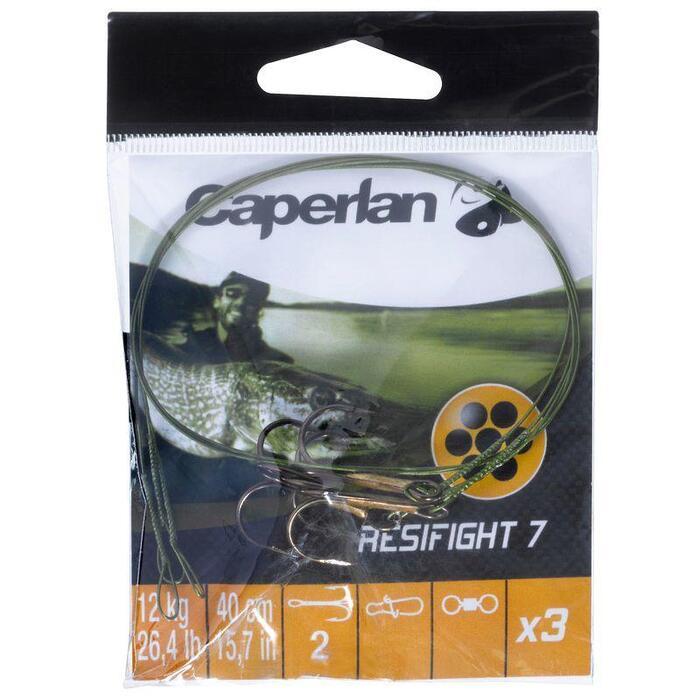 Avançon pêche carnassier RESIFIGHT 7 hameçon triple 12KG - 809951