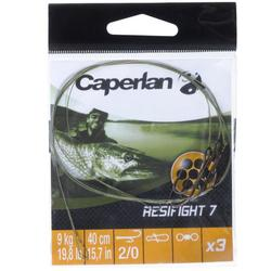 Metalen onderlijn roofvishengelen Resifight 7 Ryder-haak 9 kg
