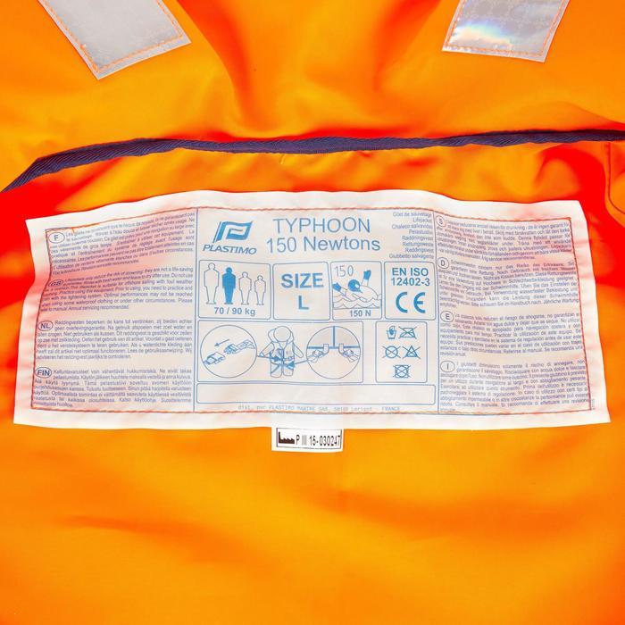 Gilet de sauvetage mousse adulte TYPHON 150N orange - 810145