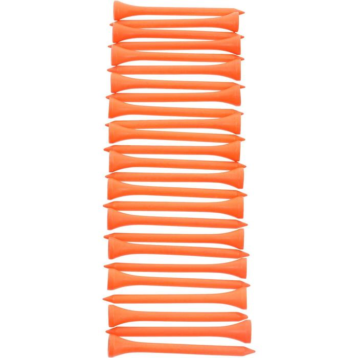 69 mm Wooden Tee x 25 - Orange