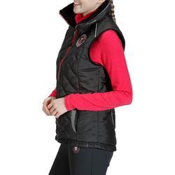 Damesbodywarmer Performer 500 ruitersport zwart en grijs visgraat - 810476