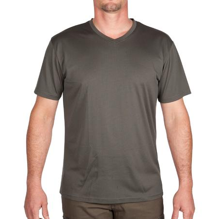 100 Breathable Short-Sleeve Hunting T-Shirt - Green