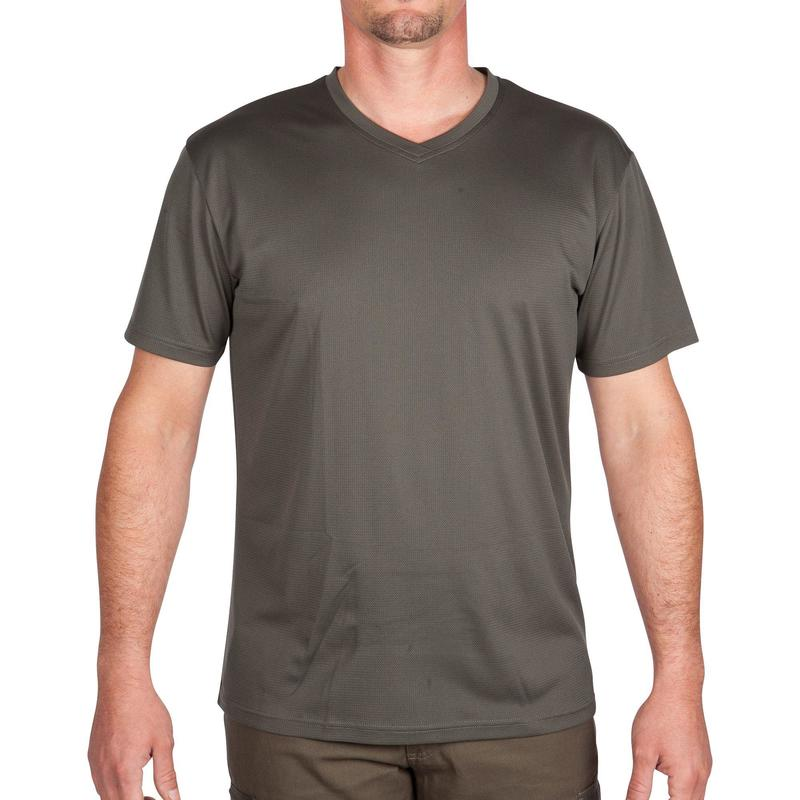 Hunting Breathable Short-Sleeve T-Shirt 100 - Green