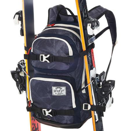 Wed'ze Reverse Freestyle 500 snowboarding ski backpack - Blue