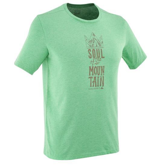 Wandel T-shirt met korte mouwen voor heren Techtil 100 gemêleerd - 810978
