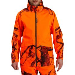 Waterdichte jas voor de jacht Supertrack 100 fluo