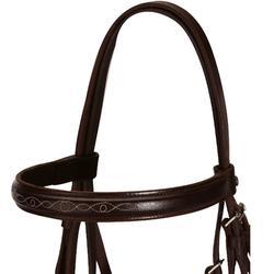 Bridon cheval marron avec rênes PADDOCK