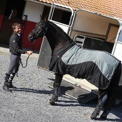 Transportbeschermers Traveller 500 ruitersport zwart en grijs x4 - maat paard - 811490