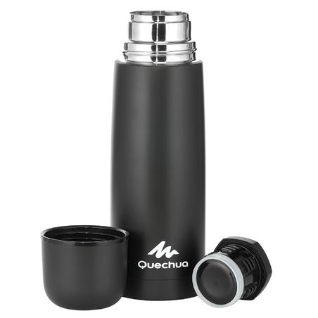 0.7 L stainless steel insulated hiking bottle - - Black
