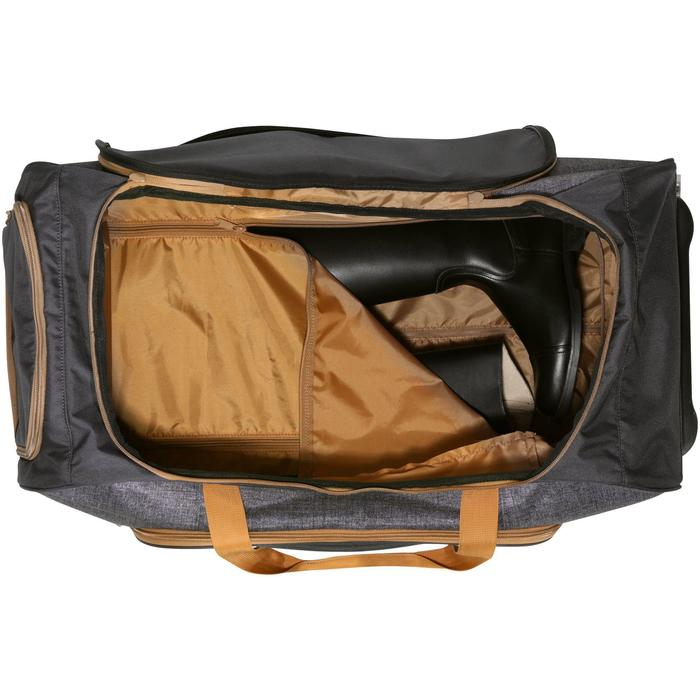 Transporttasche mit Rollen Reitausrüstung Trolley 80l grau/camel