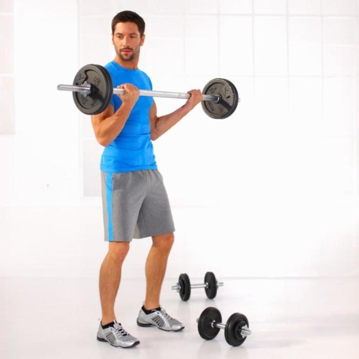 Kit haltères et barres musculation kit 50 kg - 811767