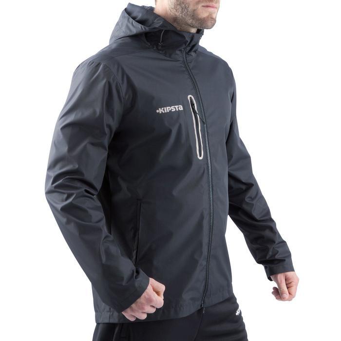 Veste pluie imperméable de football adulte T500 noire - 811859