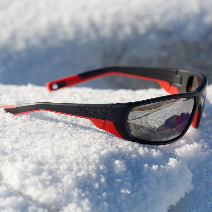 Lunettes de randonnée adulte MH 570 noires & rouges polarisantes catégorie 4 - 811966