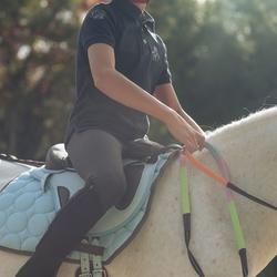 Jongenspolo Horse met korte mouwen ruitersport - 811968