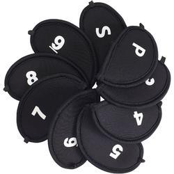 Schlägerhauben 9 Stück schwarz