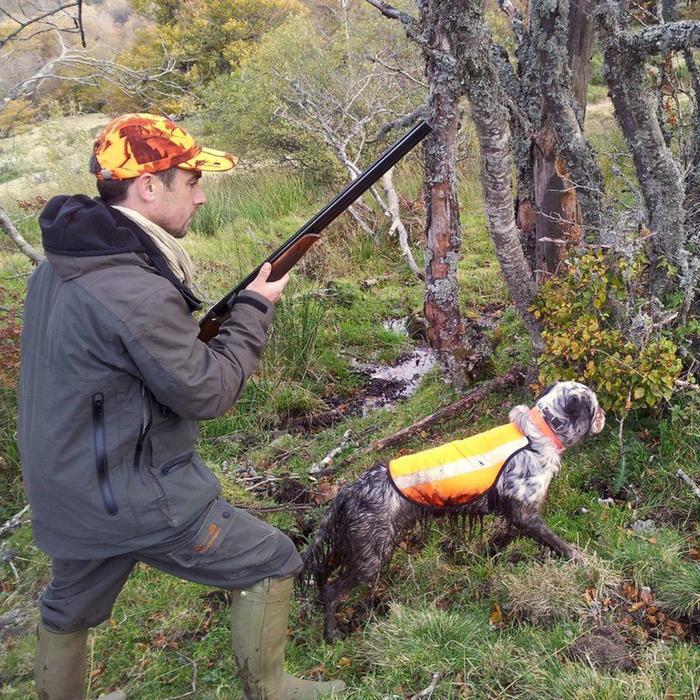Hondenjasje 100 voor jachthond fluo-oranje