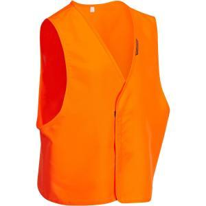 Chasuble orange fluorescent compactable, léger et silencieux.