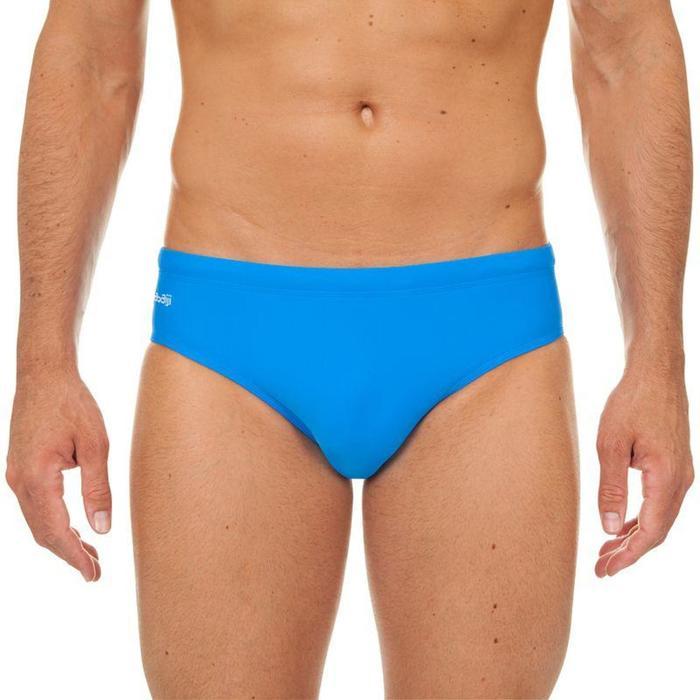 Badehose Slip 100 Basic Herren blau