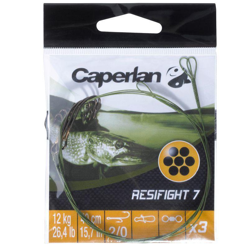 Avançon pêche carnassier RESIFIGHT 7 hameçons ryder 12KG x3