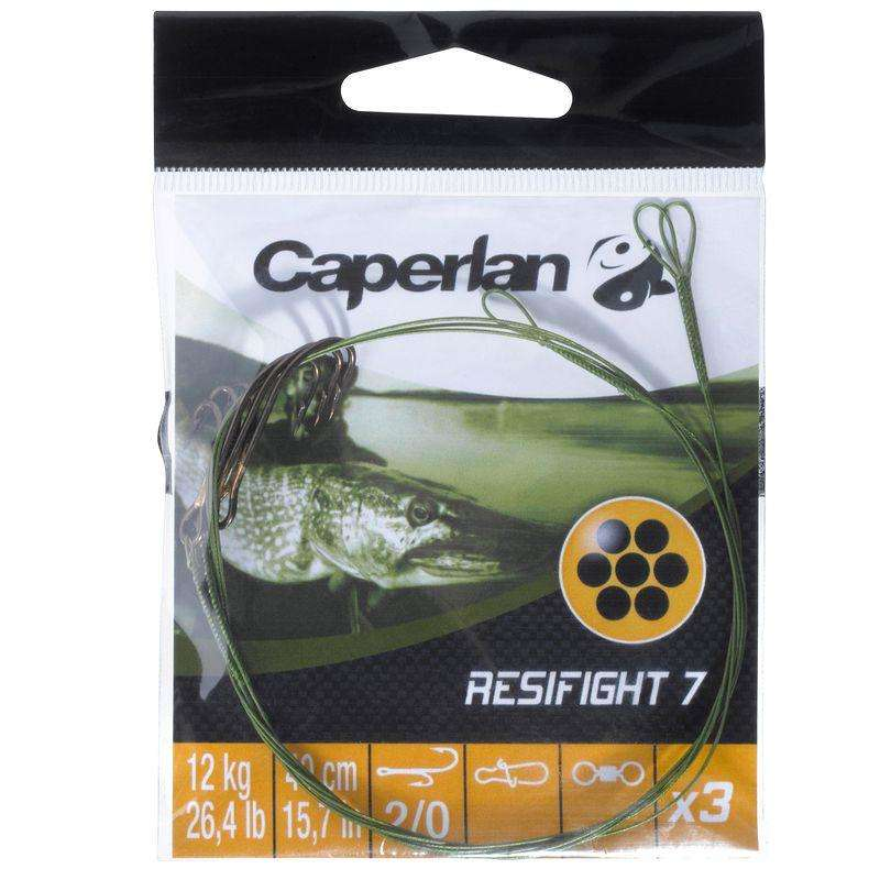 HÁČKY S MONTÁŽÍ, NÁVAZCE NA LOV DRAVÝCH RYB Rybolov - RESIFIGHT 7 HÁČEK RYDER 12 KG CAPERLAN - Rybářské vybavení