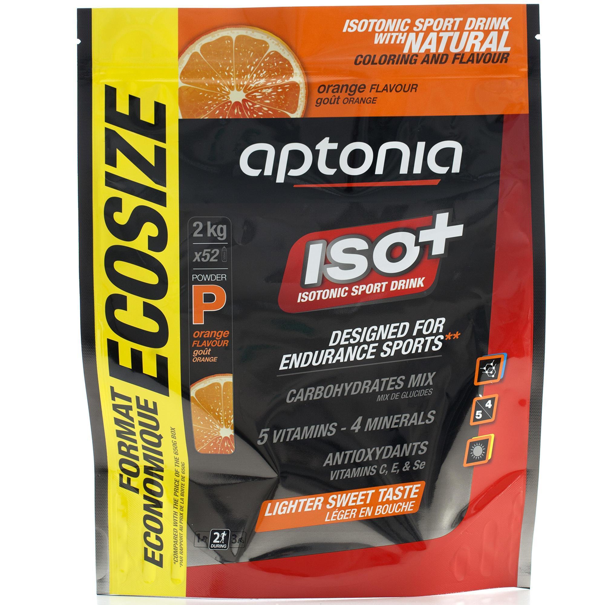 Isotone en herstellende drank Iso+ sinaasappel 2 kg