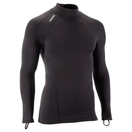 Adult brushed long-sleeved stretchy Thermal TOP - Black