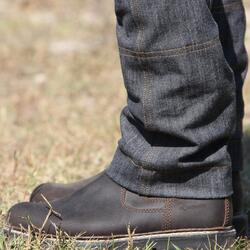Damesrijbroek met rechte pijpen jeans grijs - 813241