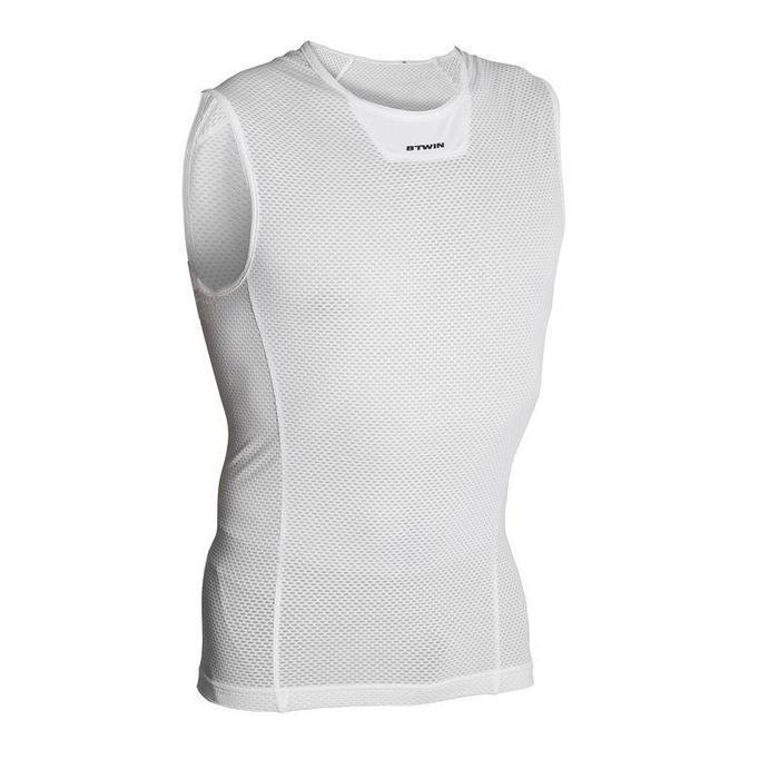 Fietsondershirt zonder mouwen 500 wit