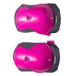 Protektoren-Set Fahrrad XS Kinder rosa