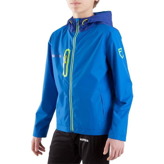 Veste imperméable de football enfant T500 bleu - 813637