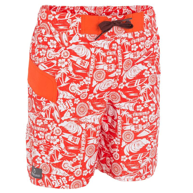 Olatu kids' short swimming shorts - Icons red