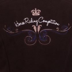 2-in-1 damesfleece met kap HR ruitersport gemêleerd logo - 81461