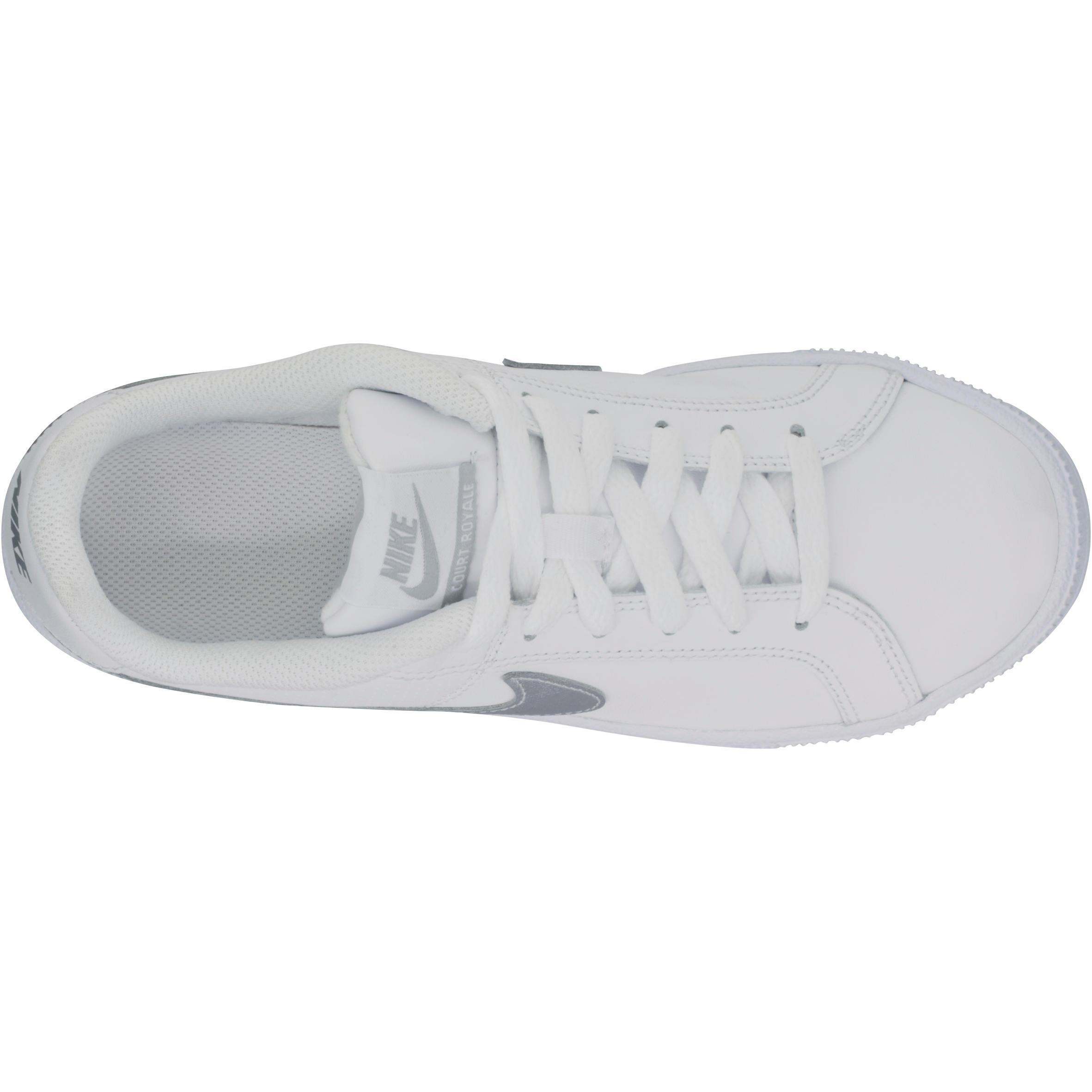 Nike Dames tennisschoenen Nike Court Royale metaalwit