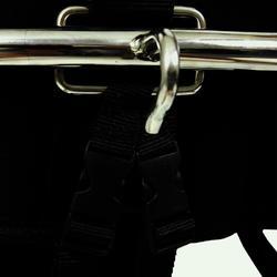 Trapezegordel voor zeilen volwassenen zwart/grijs - 820015