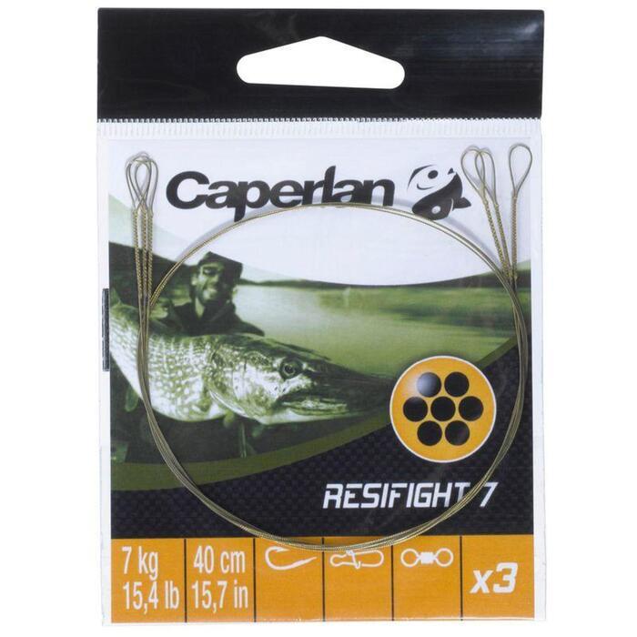 Avançon pêche carnassier RESIFIGHT 7 2 BOUCLES 12KG x3 - 820101