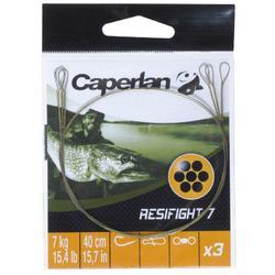 Avançon pêche carnassier RESIFIGHT 7 2 BOUCLES 7KG