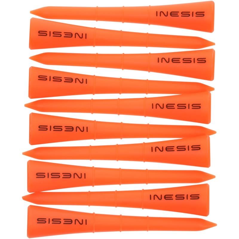 Tee plástico 70 mm X10 naranja