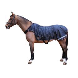 Manta ligera andador equitación caballo EXERCISE negro