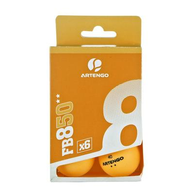 BALLES DE TENNIS DE TABLE ARTENGO FB 850 C BLANC ET ORANGE LOT DE 6