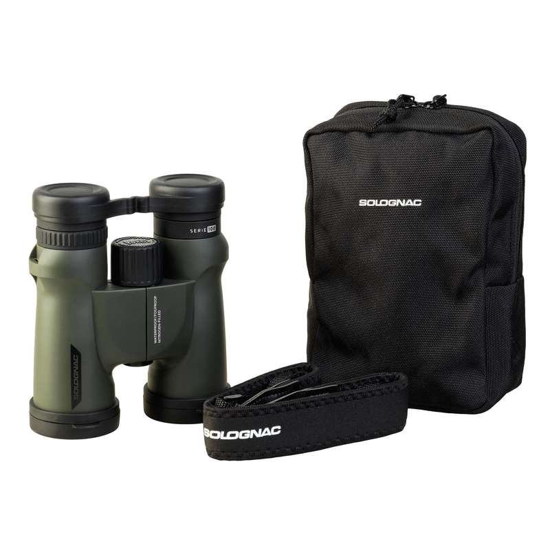 BINOCULARS/FLASHLIGHT Shooting and Hunting - 10X42 BINOCULARS 100 SOLOGNAC - Hunting Types