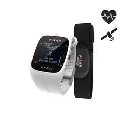 GPS-horloge M400 HRM met hartslagband wit