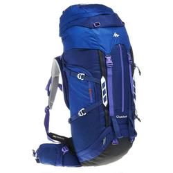 Sac à dos Trekking symbium femme 50+10 litres bleu foncé