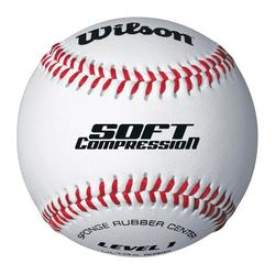 Ball Baseball Soft Compression 9 Zoll weiß