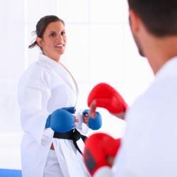 Karatehandschoenen blauw - 821190