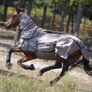 Fliegendecke Anti-Fly Pferd/Pony beige