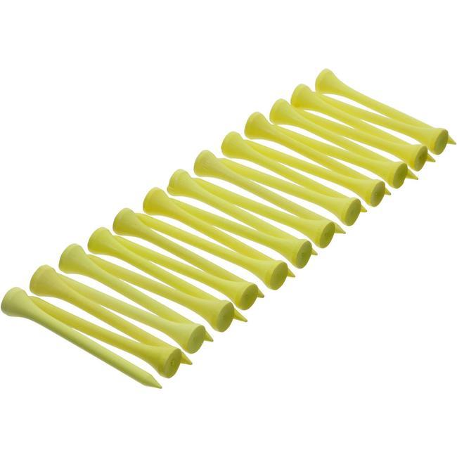 69 mm Wooden Tee x 25 - Yellow